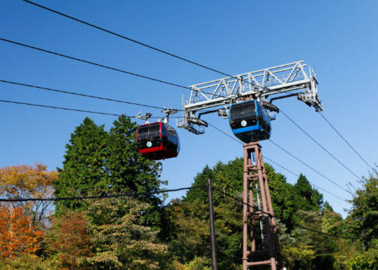 Travel through the air on the Hakone Ropeway - Enjoy a Clear View of Lake Ashi & Mt. Fuji!