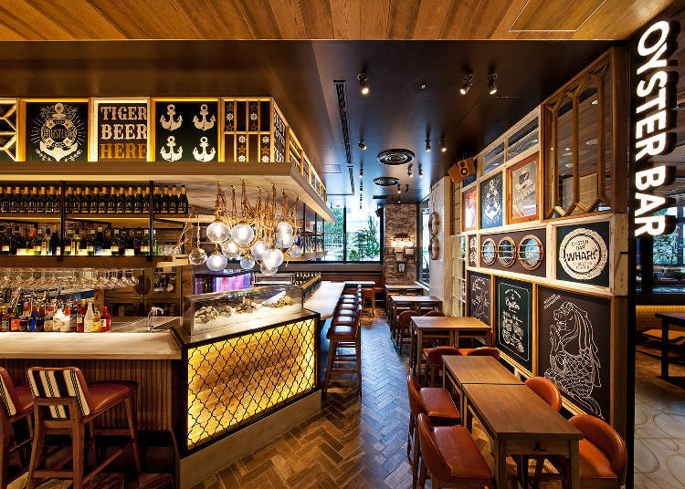 Oyster Bar Wharf: The Singaporean Bar Hit is Now in Tokyo!