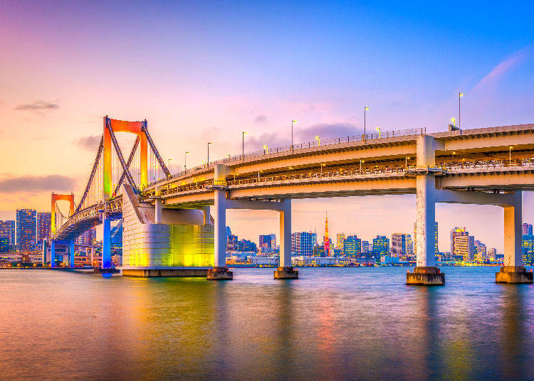 1) Daiba Park: Rainbow Bridge and the Heart of the City, the Most Popular Night View