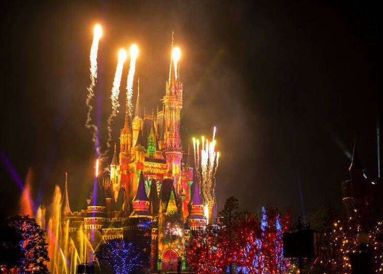 """Tokyo Disney Resort 35th Anniversary """"Happiest Celebration!"""" Latest News #1: Numerous Attractions at Cinderella Castle! A Nighttime Spectacle of Light, Water and Fireworks with """"Celebrate! Tokyo Disneyland"""" (Tokyo Disneyland)"""