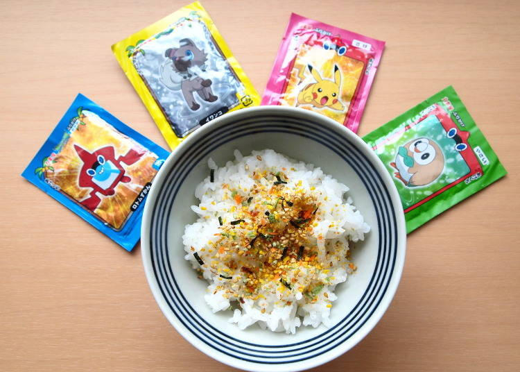 #4 Great for Lunch Boxes, Not Only for Kids: Pokémon Furikake Mini Pack (Marumiya, 219 yen excluding tax)