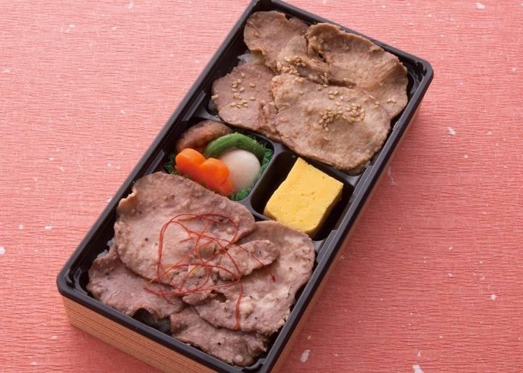 ●1位「利久 牛たん丼 たれと塩のW弁当」銘店弁当 膳まい