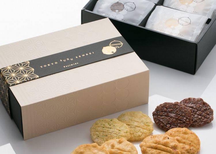 ● Tokyo Suzu Senbei (Box of 20) at Fujimi-dō (Gransta): Limited Bell-Shaped Rice Crackers!