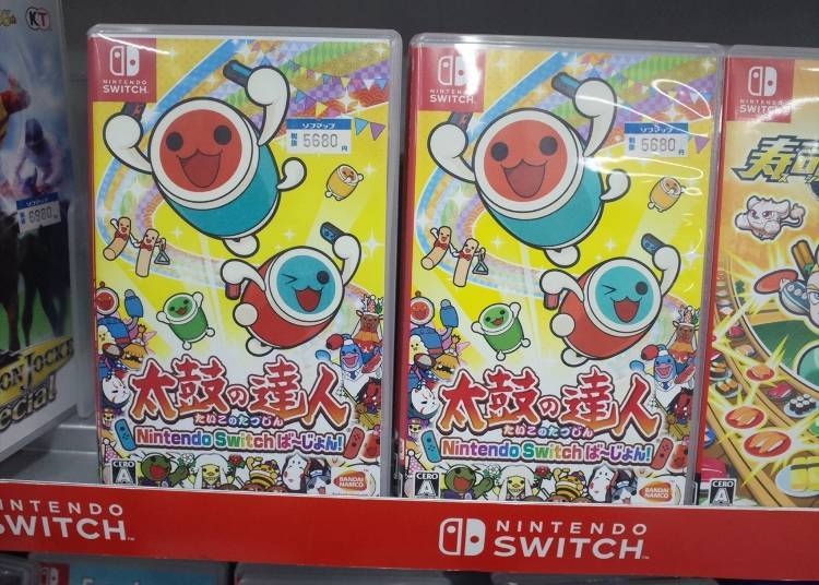 "Popular Games #7: Nintendo Switch ""Taiko no Tatsujin Nintendo Switch Version"" (5,680 yen)"