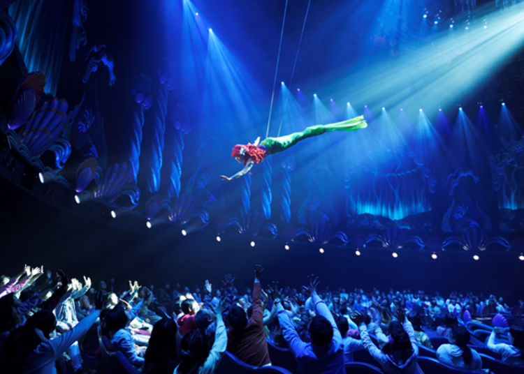 Tokyo DisneySea's Secret Spots – No Long Queues! 1. Mermaid Lagoon Theater: A Fun Show Under the Sea! (Fastpass Available)