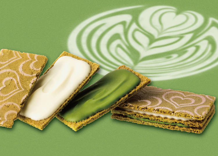 #7 Matcha Chocolate Sandwich, 5 in a Box (Gin no Budō /Gransta) for 560 Yen (Tax Included)