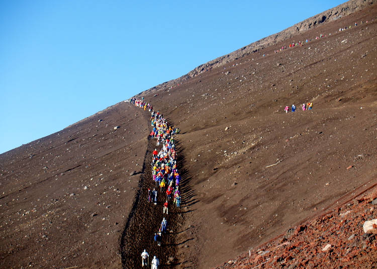 Climbing Mt. Fuji: The other hiking paths