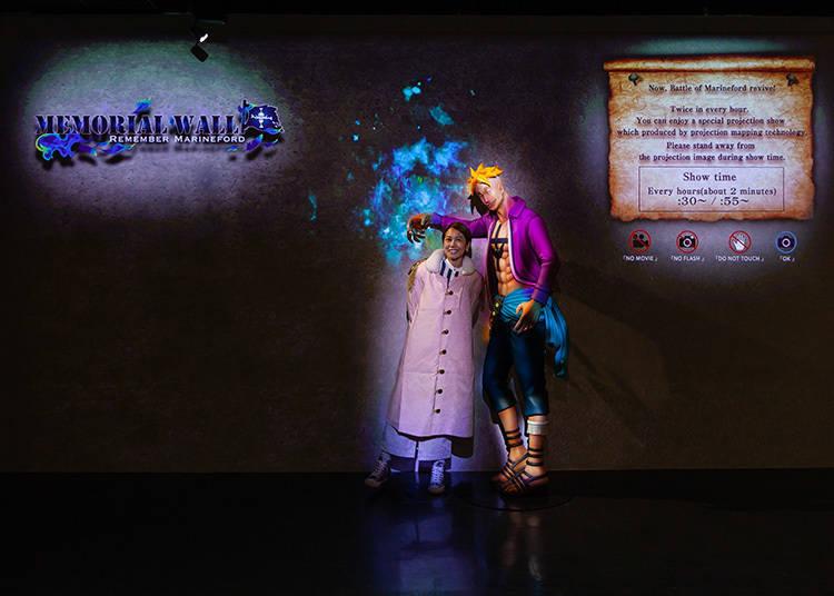 새로운 스폿! 흰수염 해적단과 일번대 대장'불사조 마르코'가 강림한「MEMORIAL WALL〜REMEMBER MARINEFORD〜(5F)