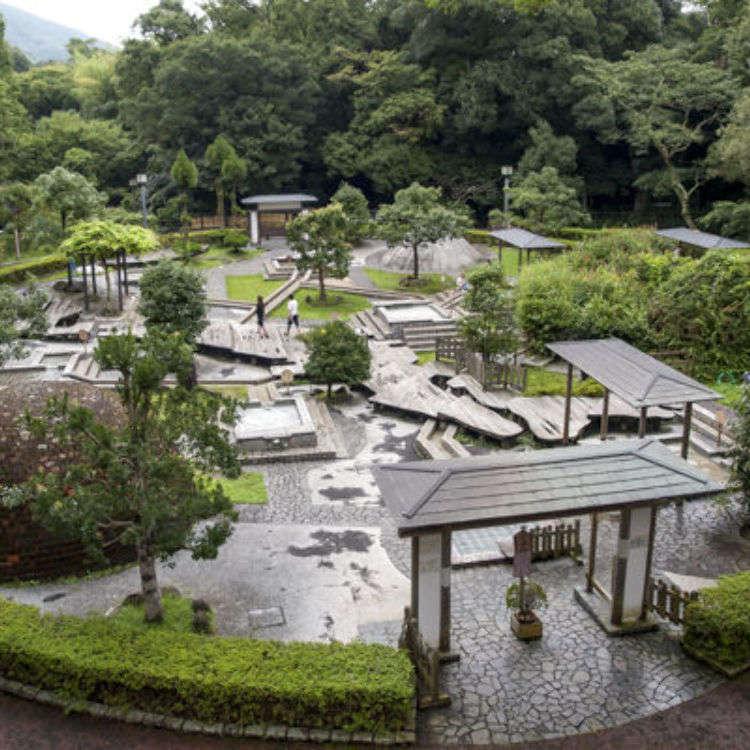 在萬葉公園「獨步之湯」享受九種足湯的療癒之旅
