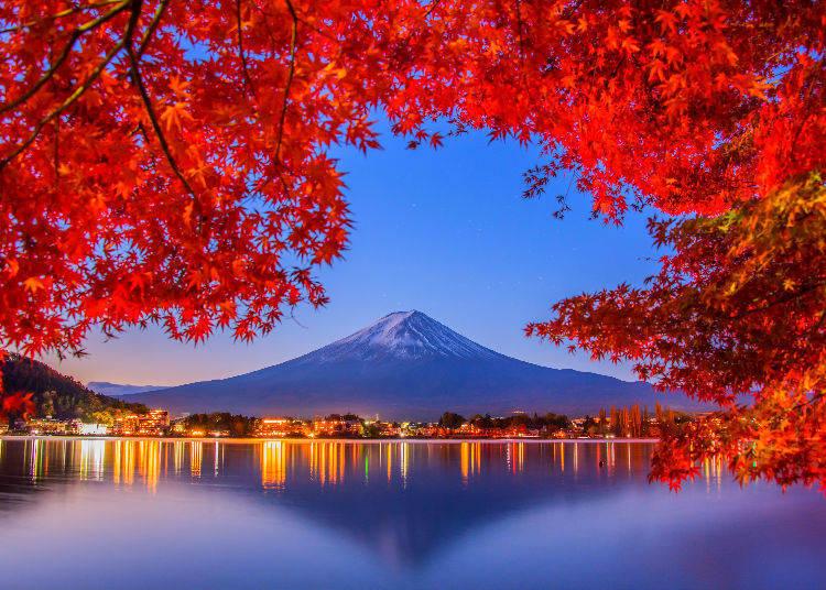 Lake Kawaguchi (Fuji Five Lakes) in Yamanashi Prefecture