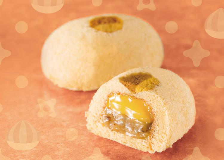 <東京ばな奈ワールド>ふかふかとろける『「銀座のモンブランケーキ」です。』