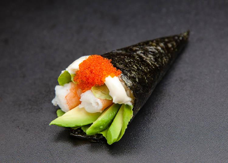 23. Sushi and sashimi
