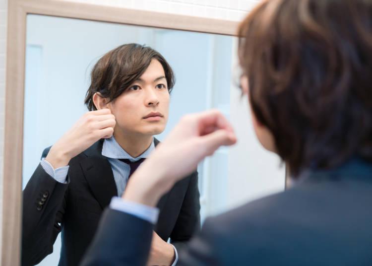 6. 男性も髪をセットしてる人が多い!