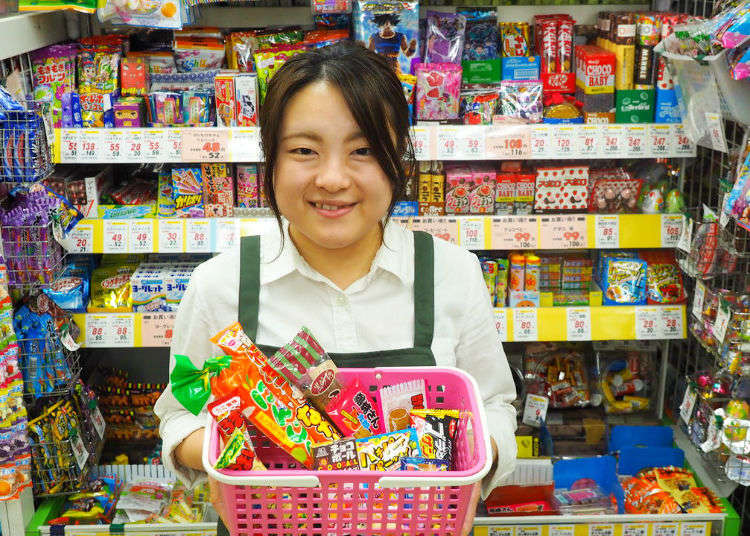 How Many Japanese Snacks Can You Get Just for ¥300? Before Heading Home Stock Up at Okashi-no-Machioka!