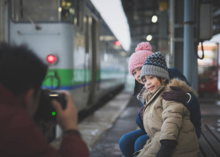5. Travelling on Trains in Tokyo with kids