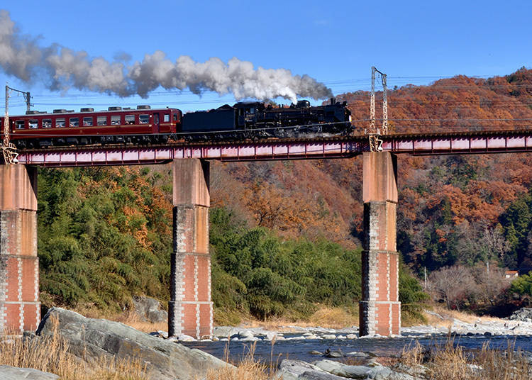 Target 2: Brilliant Foliage with a Steam Locomotive in the Foreground