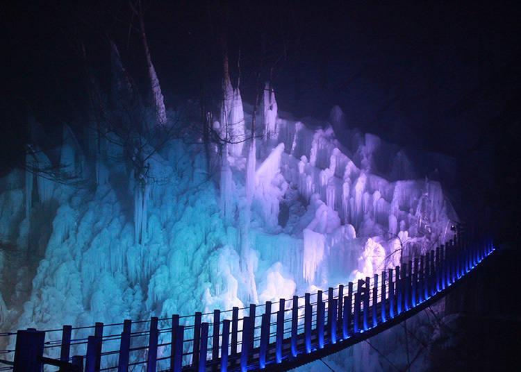 Target 2: Dramatic Shots of an Illuminated Winter Wonderland