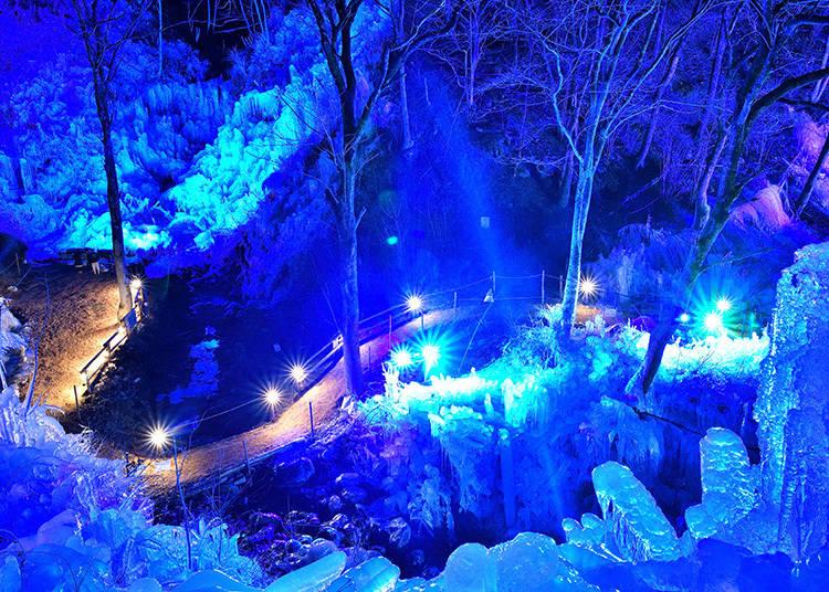 冬の秩父で、幻想的風景に出会う