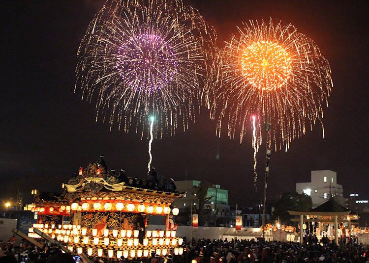 幻想的な冬の写真攻略法③:冬花火&伝統の祭りの夜景を美しく