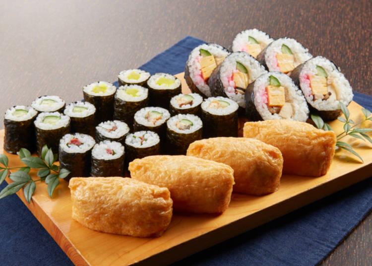 3. Sushi for vegetarians in Japan