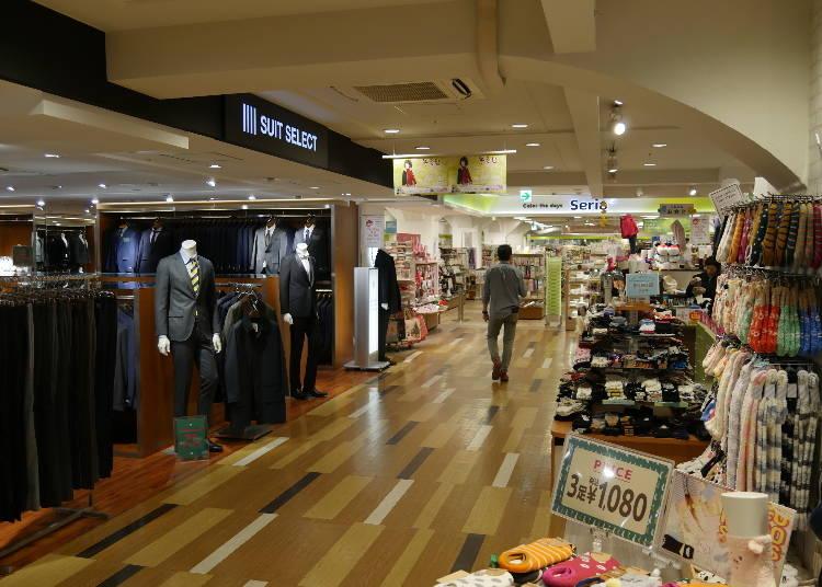 5階:ユニセックス、ファミリー向けファッション・雑貨フロア