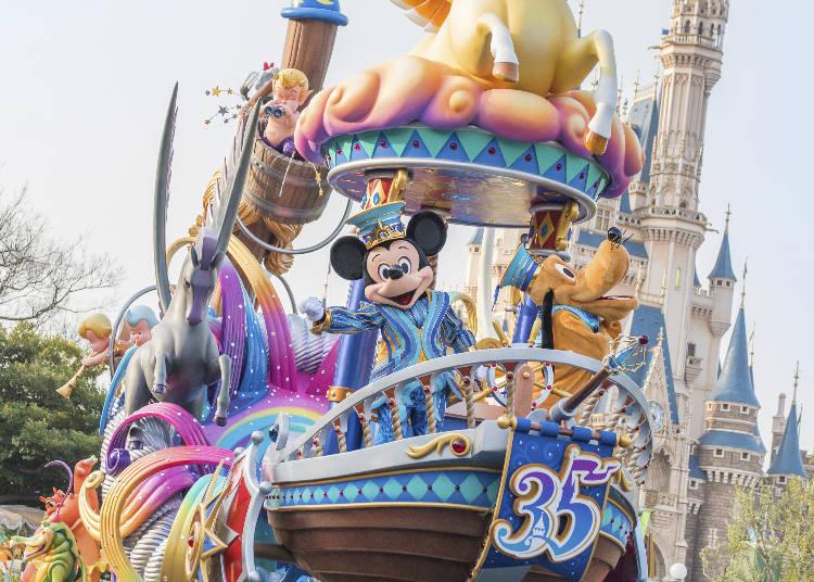 ◆東京迪士尼樂園◆ ■東京迪士尼度假區35週年慶「Happiest Celebration!」壓軸活動 【娛樂表演】