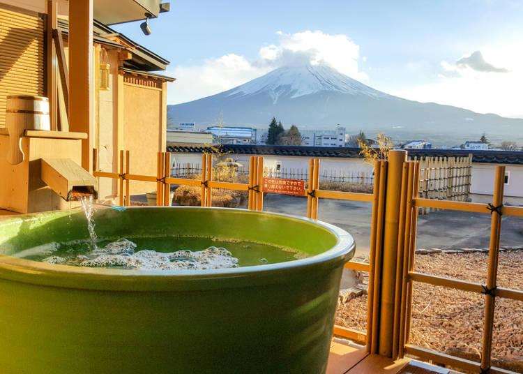 ■温泉につかったら汗ばむくらいで一度出るのがポイント