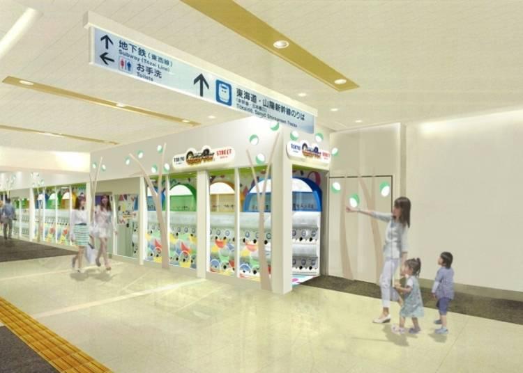 扭蛋機人氣出沒地點④ 東京車站:東京一番街「TOKYO GASHAPON STREET」一次給你百台扭蛋!