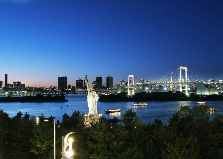 Enjoy the night sky of Tokyo Bay around Toyosu!