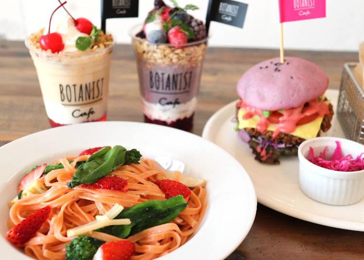 ■「ボタニストカフェ」の桜色を基調とした春限定メニュー