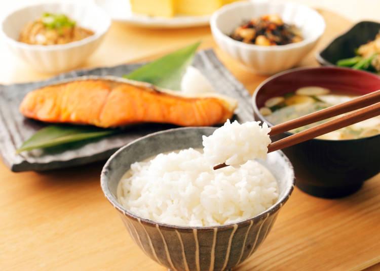 食事のクオリティが高い、そして何よりお米がおいしい!