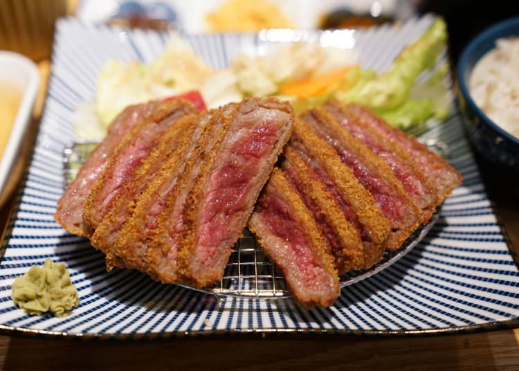 「牛かつ」の安定した味が、外国人のハートをキャッチ