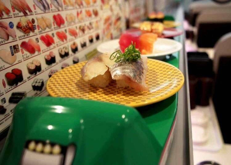 7. Order up some 'high-speed' food at Japan's new-style conveyor sushi!