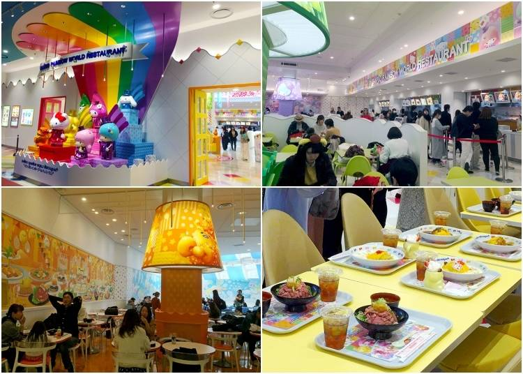 Sanrio Rainbow World Restaurant: Gudetama Roast Beef Bowl, Spaghetti, Crepes and Bubble Tea