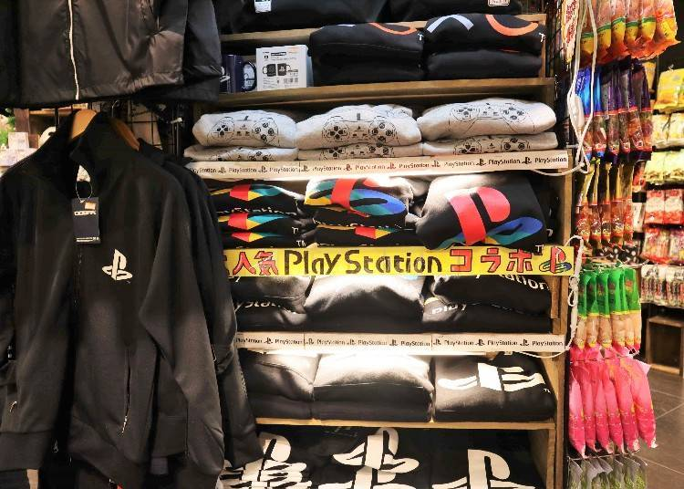 """4) Gamer goods for the tourist! """"PlayStation Logo and Game Character Goods"""""""