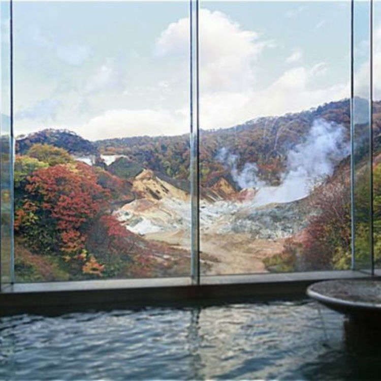 "Explore the five types of ""Live Springs"" at the Dai-ichi Takimotokan in Noboribetsu Onsen"