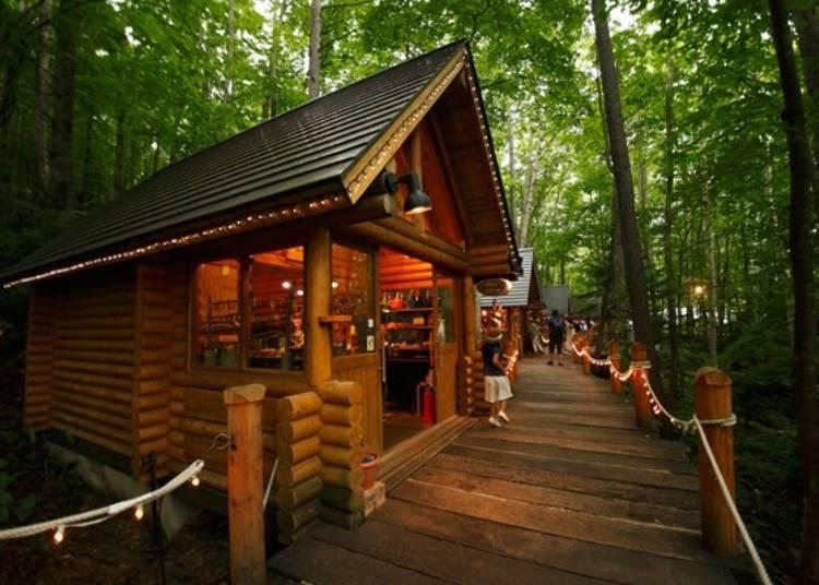 童話森林內的手工藝品小木屋「森林精靈陽台」