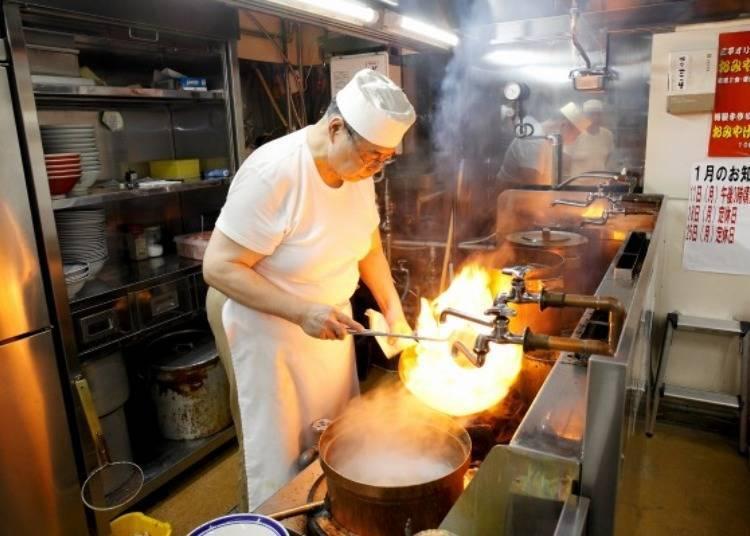 We decided to taste the miso ramen at Aji no Sanpei .