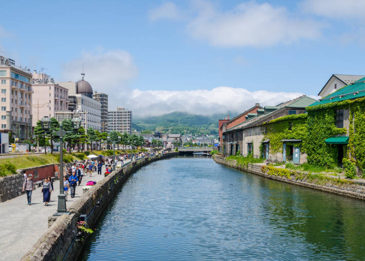 Day 2: Taking the train from Sapporo to Otaru! Shopping and walking around the canal