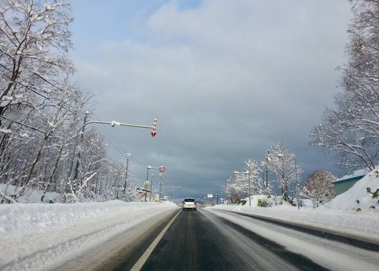 ポイント5)冬の北海道の運転は危険がいっぱい!