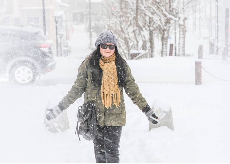 2. The average temperature in Sapporo reaches 26.4℃ in summer. In winter it's -7.0℃!