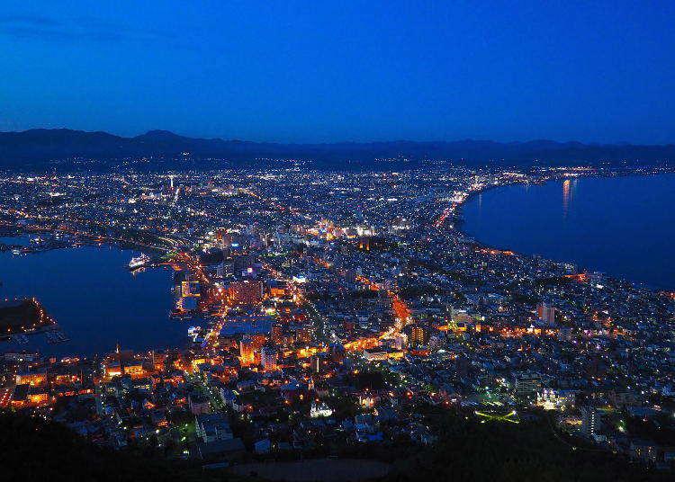函館といえば夜景!ロープウェイで函館山へ