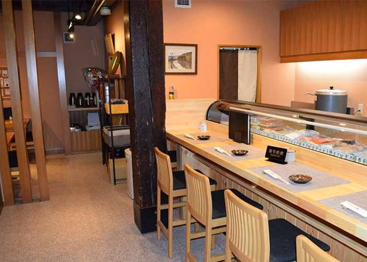 Enjoy sushi in the relaxed atmosphere of Otaru Sushi Ko
