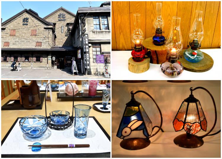 6)小樽のガラス工芸品といえばこちら「北一硝子 三号館」