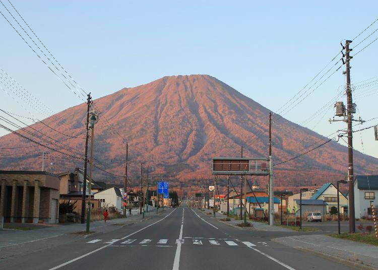 【羊蹄山绝景3】夕阳余晖映山红 羊蹄山的黄昏时刻「赤富士」