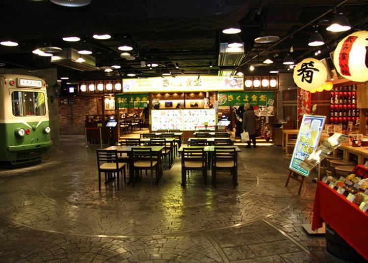 國內線3樓「美食世界」/推薦1「市電通食堂街」