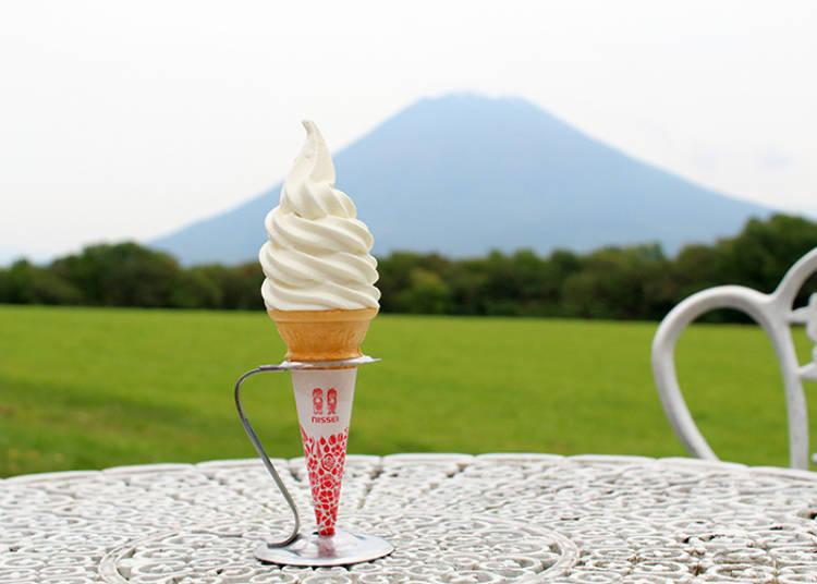 """Niseko: In idyllic view of Mt. Yotei, find """"Niseko Takahashi Ranch Milk Studio"""" for supreme sweets!"""