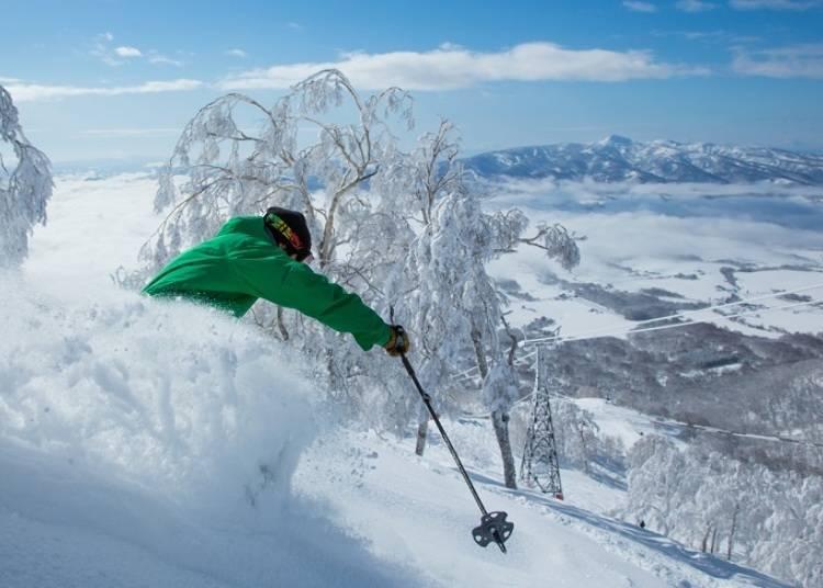 享受片片白雪的滑雪樂園