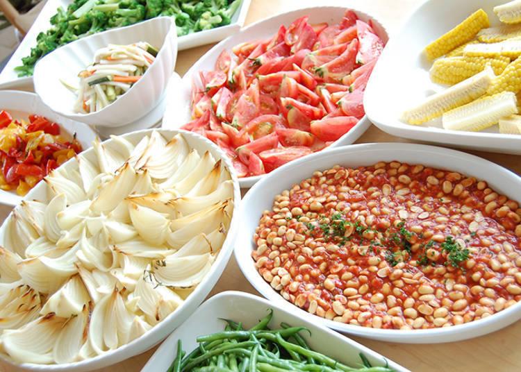 Popular Vegetable Buffet at Restaurant PRATIVO