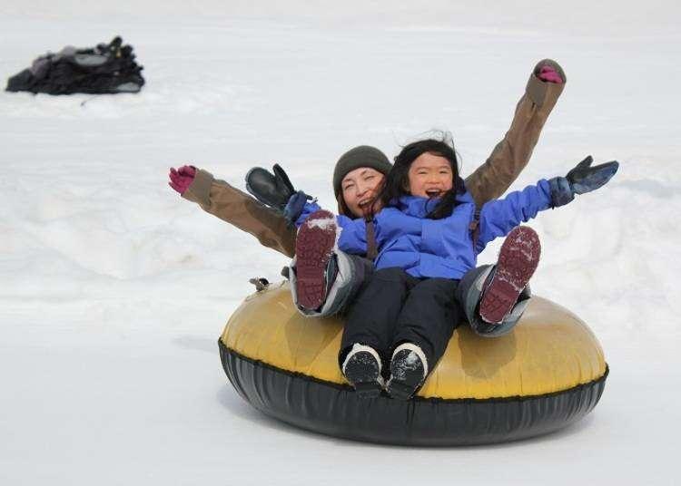 從小孩到大人,在二世谷裡都能充分享受冬季雪上活動